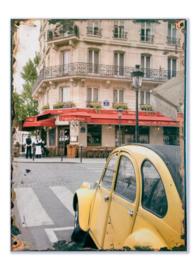 Parijs met gele 2CV