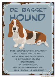 Basset Hound (blauw)