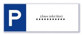 P-borden (eigen tekst - max. 9 tekens)