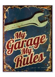 My Garage My Rules (blauw)