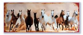 Wilde paarden in galop