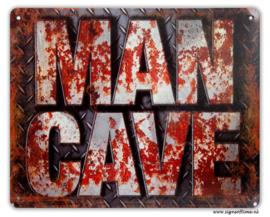 Man Cave (metalen rijplaat)