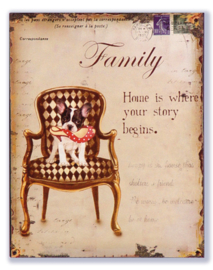 Family Home is where your story begins (French Bulldog)