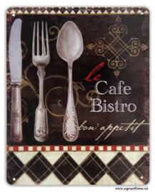 Cafe Bistro - Bon appetit (met bestek)