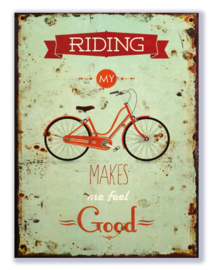 Riding my bike makes me feel good