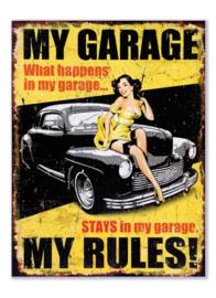 My Garage My Rules (geel)