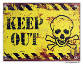 KEEP OUT (geel)