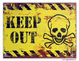 KEEP OUT (geel)