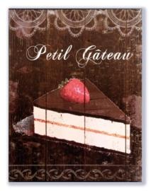 Petit Gateau (met aardbei)