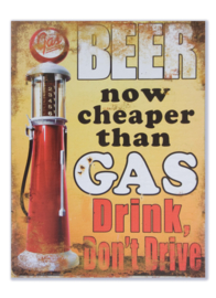 Beer now cheaper than gas - drink, don't drive