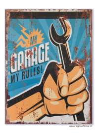 My Garage My Rules (moersleutel in vuist)