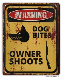 Warning - Dog bites Owner shoots​
