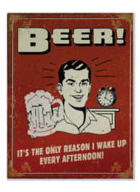 Beer - It's the only reason I wake up every afternoon