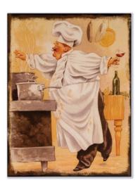 Kok bij het fornuis (cartoon)