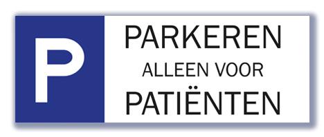 Parkeren alleen voor patiënten
