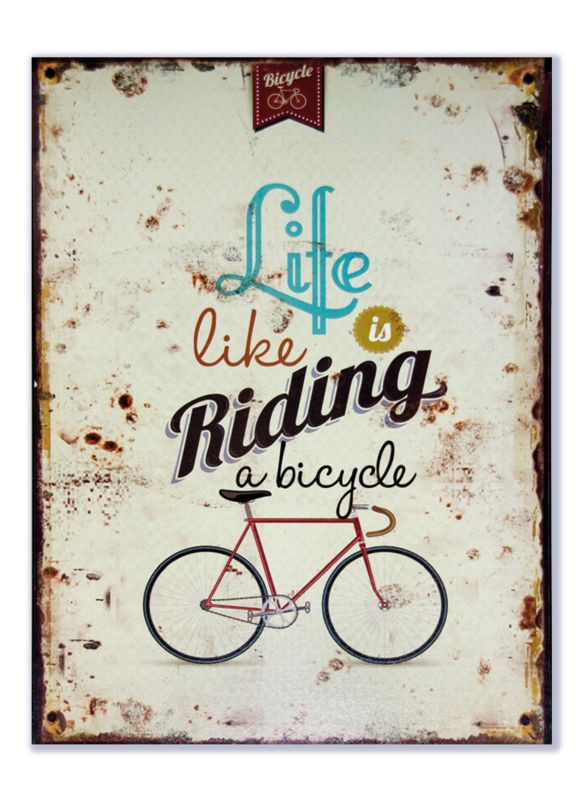 Life is like riding a bicycle (racefiets)