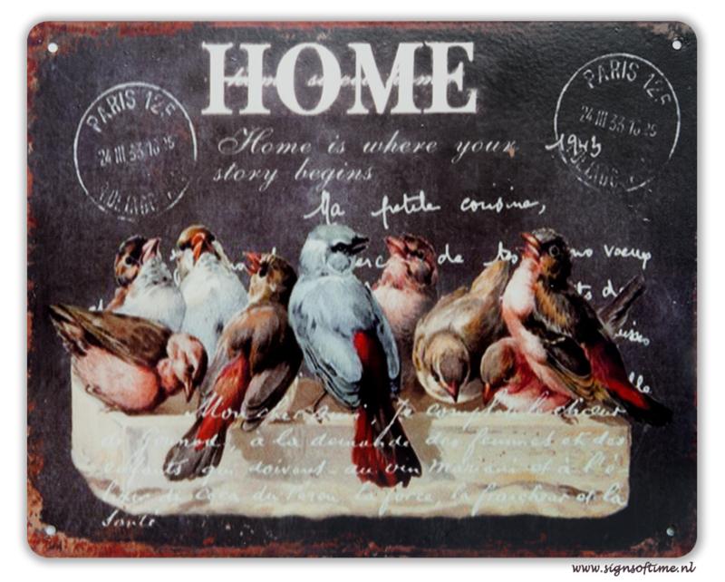 Home is where your story begins (met vogeltjes)