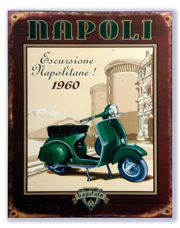 Scooter Napoli - Escursione Napolitane 1960
