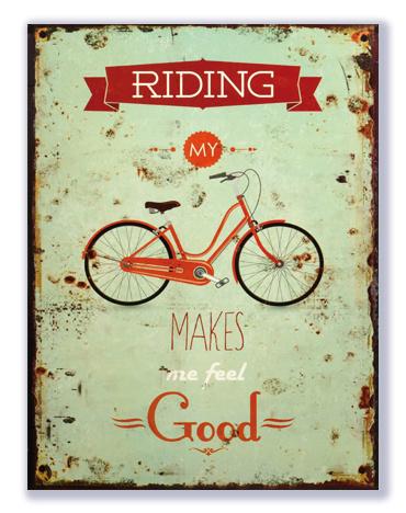 Riding my bike makes me feel good