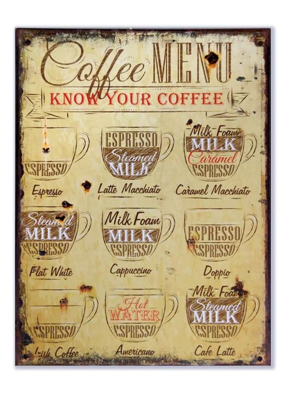 Coffee Menu Know Your Coffee