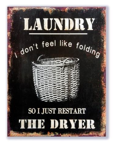 Laundry - I don't feel like folding