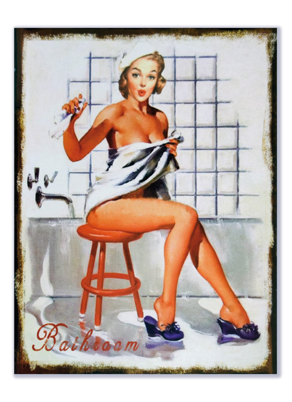 Pin Up in bathroom