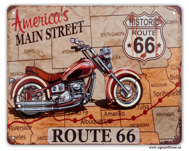 America's main street Route 66 (met motor)