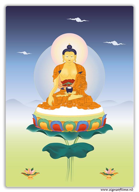 Boeddha Shakyamuni op Lotus