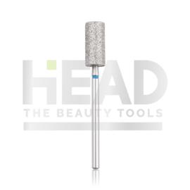 Head Diamond Frees Bit Cylinder Blue 6.0mm Extra Long (Pedicure)