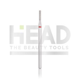 Head Diamond Frees Bit Cylinder Red 1.4mm Long (Manicure Pedicure)