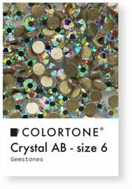 Colortone Crystal Aurora Borealis Rhinestones Size 6