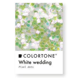 Colortone Pixel Dots White Wedding