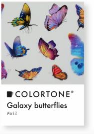 Colortone Clear Galaxy Butterflies Foil