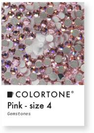 Colortone Pink Crystal Rhinestones Size 4