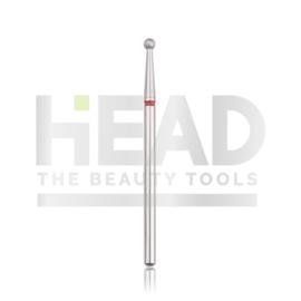 Head Diamond Frees Bit Ball Red 2.3mm (Manicure Pedicure)