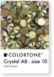 Colortone Crystal Aurora Borealis Rhinestones Size 10