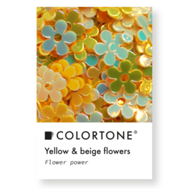 Colortone Yellow & Beige Flowers