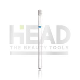 Head Diamond Frees Bit Cylinder Short Blue 2.5mm (Manicure Pedicure)
