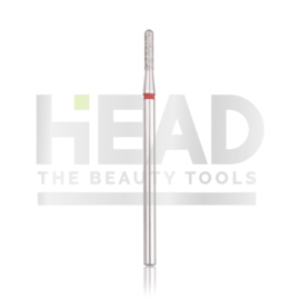 Head Diamond Frees Bit Rounded Cylinder Red 1.8mm (Manicure Pedicure)