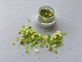 Nail Art Dazzling Circle Green