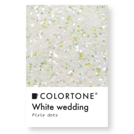 Colortone Pixie Dots White Wedding