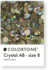 Colortone Crystal Aurora Borealis Rhinestones Size 8