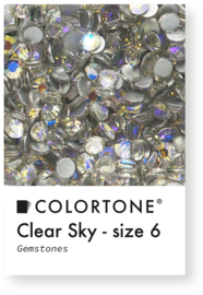 Colortone Clear Sky Rhinestones Size 6