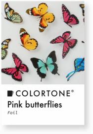 Colortone Clear Pink Butterflies Foil