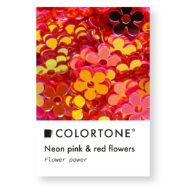 Colortone Neon Pink & Red Flowers