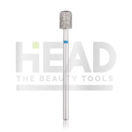Head Diamond Frees Bit Cylinder Safe Blue 5.0mm (Pedicure)