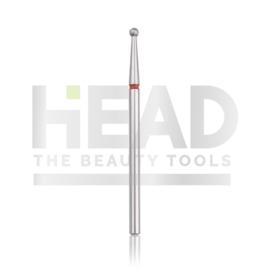 Head Diamond Frees Bit Ball Red 2.1mm (Manicure Pedicure)