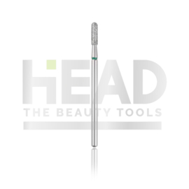 Head Diamond Frees Bit Rounded Cylinder Green 1.8mm (Manicure Pedicure)