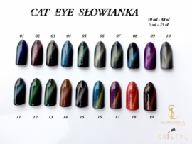 Slowianka Cat Eye Gel Polish 003 Black