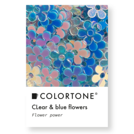 Colortone Clear & Blue Flowers